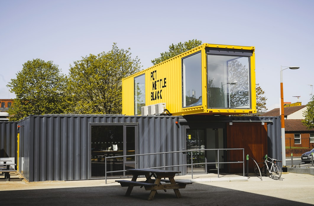 shipping container for startup cafe