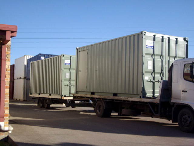 transporting containers