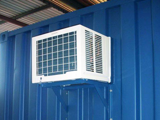container with window type aircon