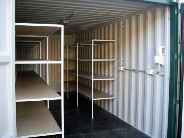 Shelving power fit out
