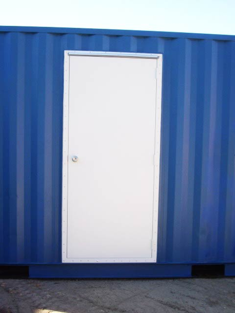 container with Personnel Door exit