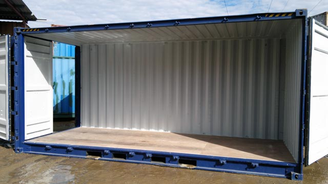 20' side door container
