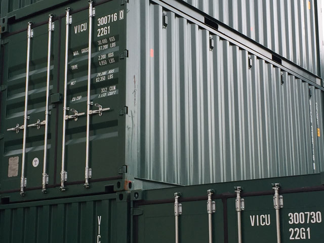 New green 20'gp container